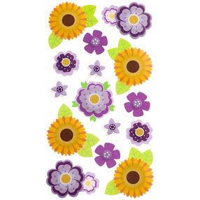 Layered Vellum Daisies Stickers_52-31042