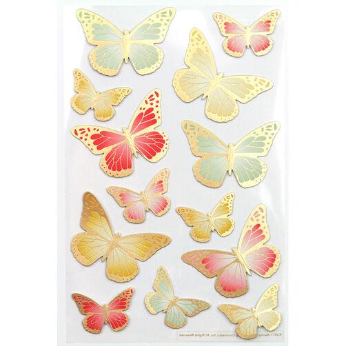 Heirloom Foil Butterfly Stickers_41-00363