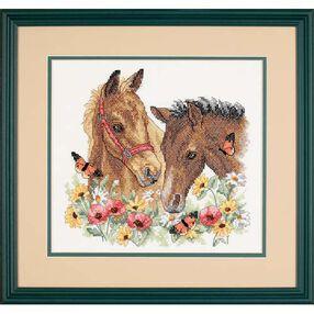 Horse Friends, Stamped Cross Stitch_03230