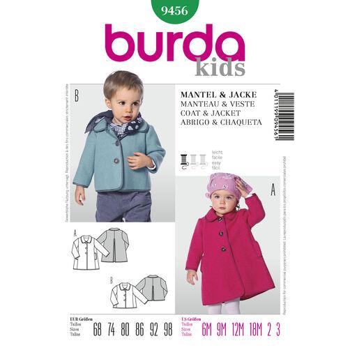Burda Style Pattern 9456 Coat & Jacket