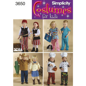 Simplicity Pattern 3650 Toddler Costumes