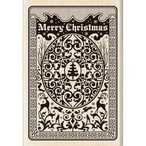 Christmas Playing Card Wood Stamp_60-00936