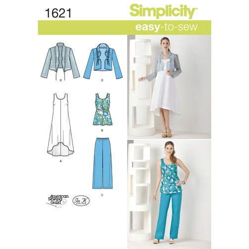 Simplicity Pattern 1621 Misses' & Plus Size Dress & Separates