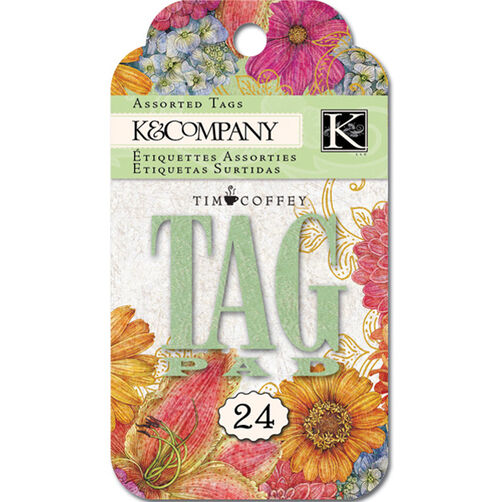 Tim Coffey Cottage Garden Journal Tag Pad_30-598577