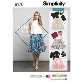 Pattern 8176 Misses' Dirndl Skirts in Three Lengths