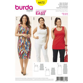 Burda Style Pattern 6672 Women's Shirt and  Dress
