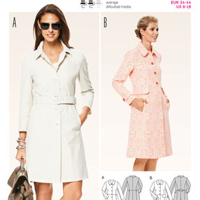 Burda Style Pattern 6772 Jackets, Coats, Vests