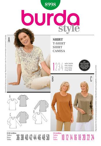 Burda Style Pattern 8998 T-Shirt