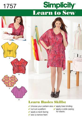 Misses' Learn to Sew Mini Dress & Top