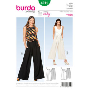 Burda Style Pattern B6544 Misses' Pants