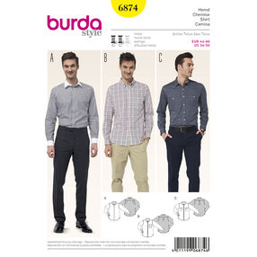 Burda Style Pattern 6874 Mens Wear, Sports Wear