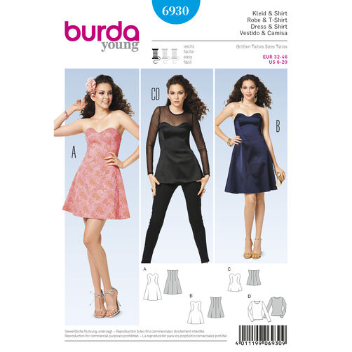Burda Style Pattern 6930 Evening & Bridal Wear
