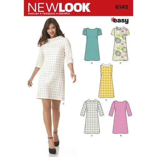 New Look Pattern 6145 Misses' Dress