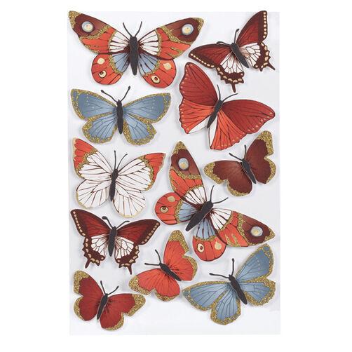 Elegant Nature Metallic Butterflies Stickers_41-00393