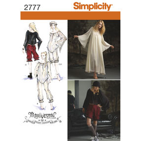 Simplicity Pattern 2777 Misses' Costumes