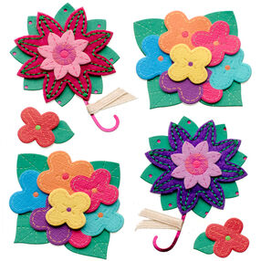 Colorful Stitched Flowers Stickers_50-21293