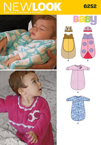 Babies' Sack with or without Sleeves and Hat
