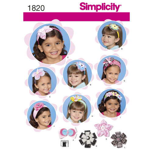 Simplicity Pattern 1820 Hair Accessories