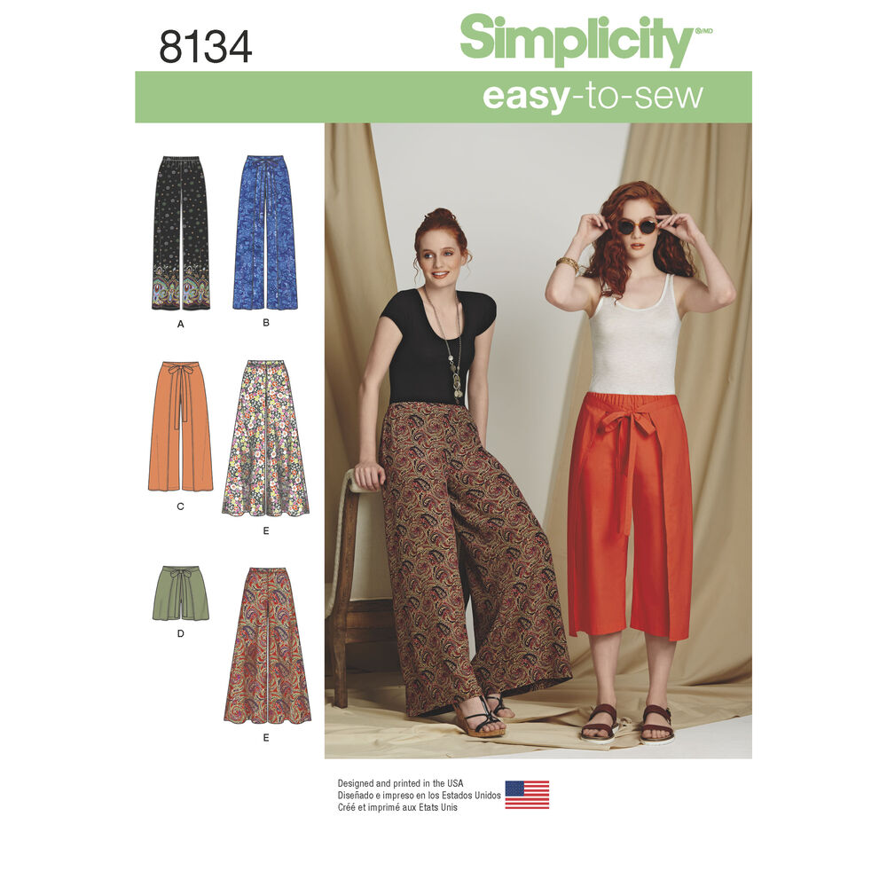 simplicity pattern 8134 misses easytosew pants and shorts