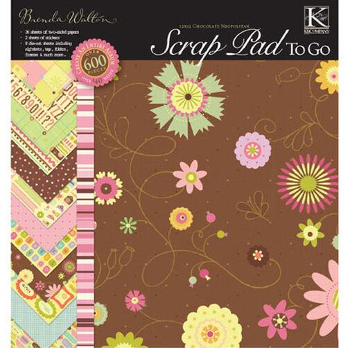 Brenda Walton 12x12 Chocolate Neopolitan Scrap Pad To Go_315068