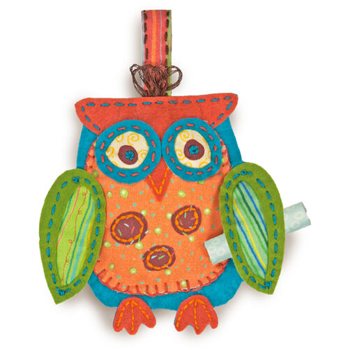 Owl Ornament, Felt Applique_72-73601