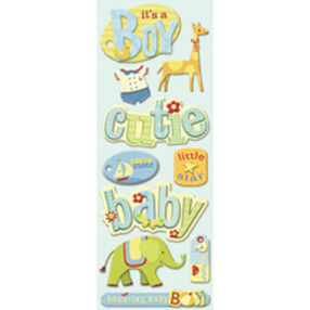 Brenda Walton Baby Boy Words and Icons Adhesive Chipboard_30-138322