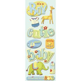 Brenda Walton Baby Boy Words and Icons Adhesive Chipboard_30-138322