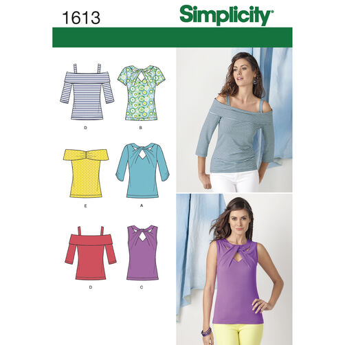 Simplicity Pattern 1613 Misses' Knit Tops