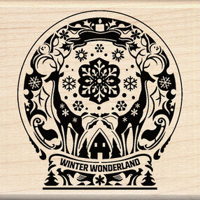 Mindscape Snow Globe Wood Stamp_60-01014