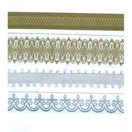 Gold Silver Flrsh Adh Rib Tape_M860001