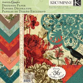 Engraved Garden12x12 Designer Paper Pad_30-619326