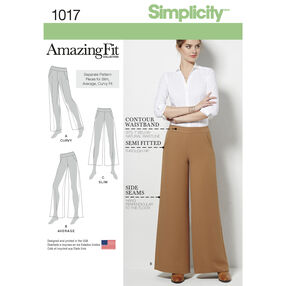 Simplicity Pattern 1017 Misses' Amazing Fit Pants
