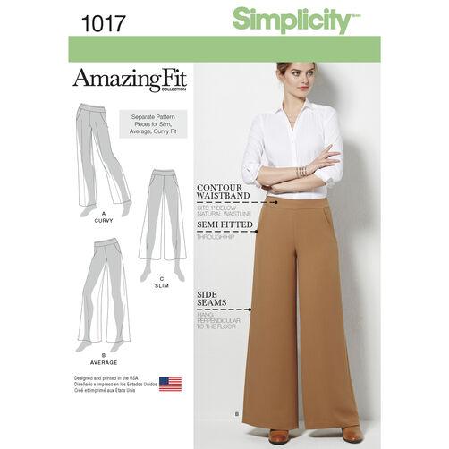Simplicity Pattern 1017 Misses' Amazing Fit Pants