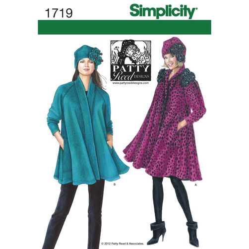 Simplicity Pattern 1719 Misses' Coat, Jacket and Hat