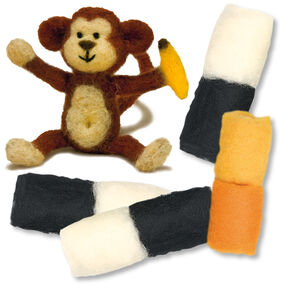 Monkey Felted Characters, Set of 2_149100