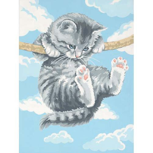 Hang On Kitty, Paint by Number_91226