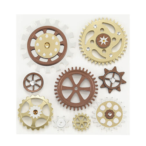 Steampunk Gear Stickers  _50-21047
