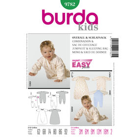 Burda Style Pattern 9782 Jumpsuit & Sleeping Bag