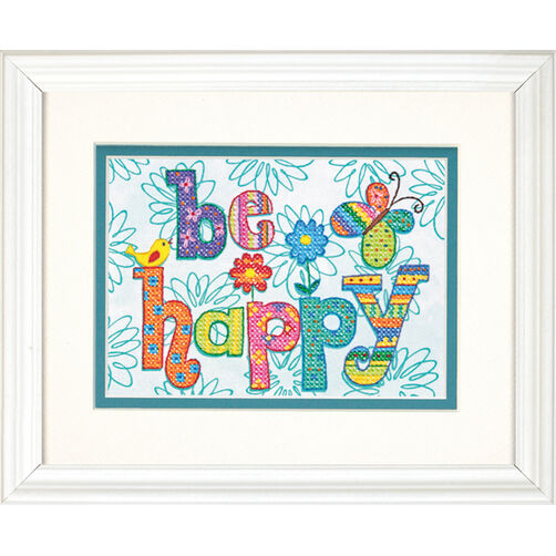 Be Happy, Stamped Cross Stitch_70-65115