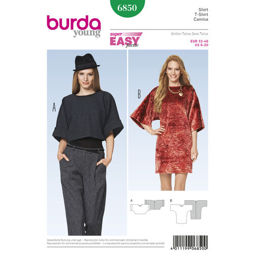 Burda Style Pattern 6850 Dresses