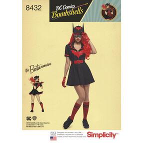 Pattern 8432 Misses' DC Comics Bombshell Batwoman Costume