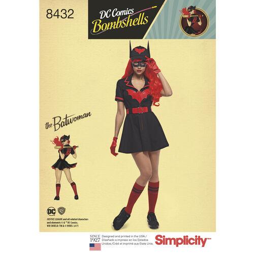 Simplicity Pattern 8432 Misses' DC Comics Bombshell Batwoman Costume