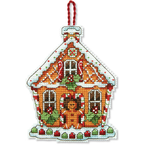 Gingerbread House Ornament, Counted Cross Stitch_70-08917