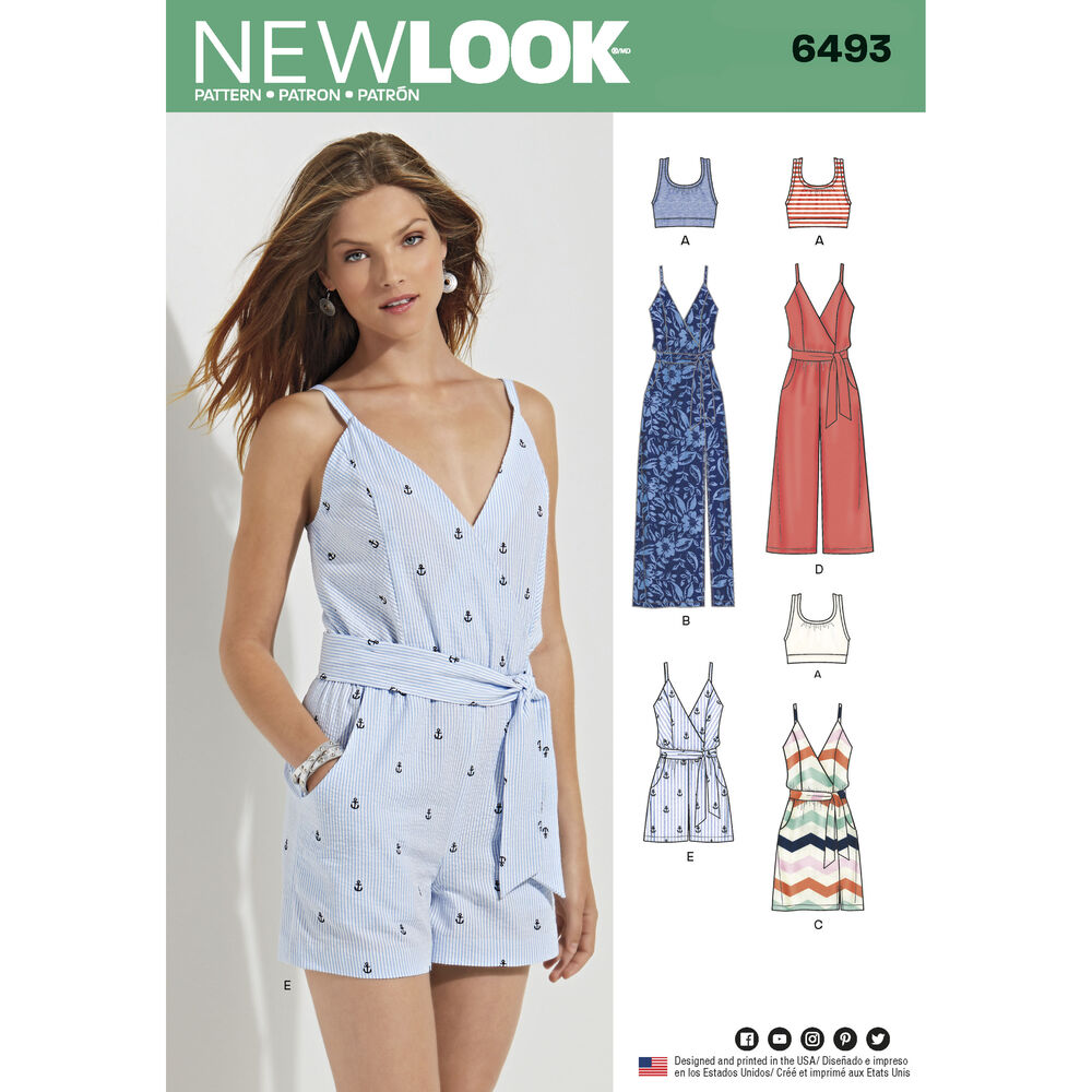 New Look Pattern 6493 Misses Jumpsuit And Dress In Two