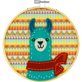Friendly Llama, Felt Appliqué_72-75114