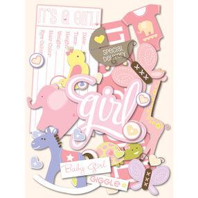 Itsy Bitsy Baby Girl Die-Cut Cardstock_30-591813