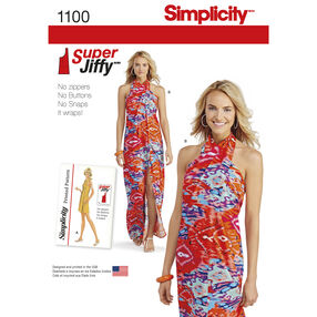 Simplicity Pattern 1100 Misses' Super Jiffy Cover Up in Two Length