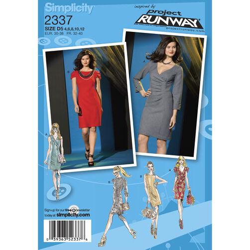 Simplicity Pattern 2337 Misses' Dresses