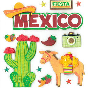 Viva Mexico Dimensional Sticker  _30-577862