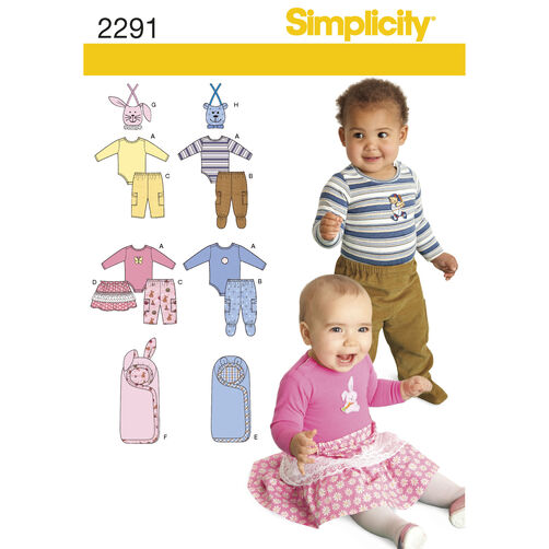 Simplicity Pattern 2291 Babies' Separates
